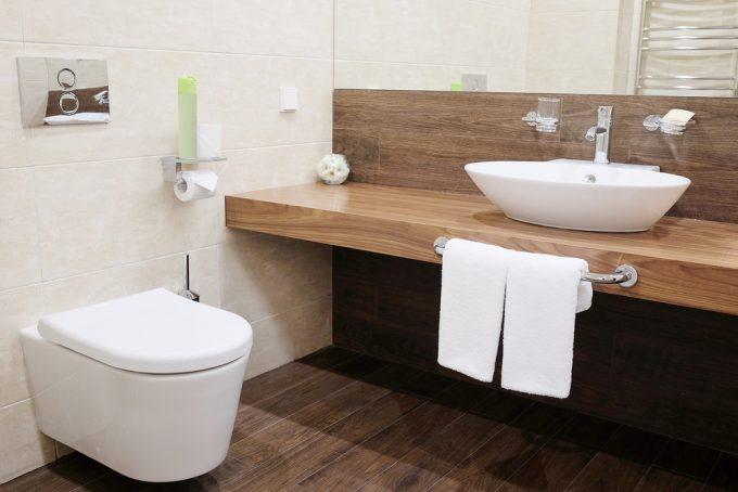 汚れ防止加工されたトイレ