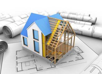 一軒家模型と設計図