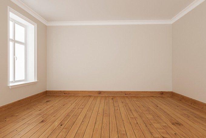 廻り縁と巾木のある部屋の画像